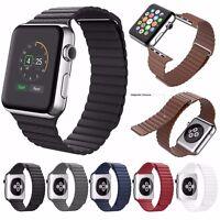 Genuine Leather Loop Magnetic Loop Watch Band For Apple Watch Series 4 3 2 1