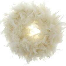 Zac's Alter Ego Fancy Dress Flag Colour Feather Boas - Great for Six Nations Cream Zaczpfb001crm