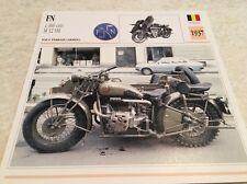 Carte moto FN 1000 cm3 M12 SM armée 1937 collection Atlas Motorcycle Belgique