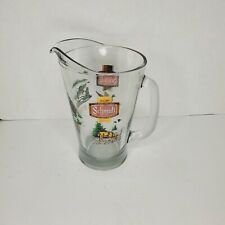 Vintage Schmidt Beer Pitcher Mallard Bass Northern pike Deer wildlife series