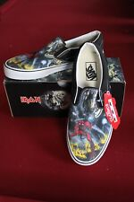 VANS Iron Maiden NUMBER OF THE BEAST New Classic SLIP-ON SHOES Slayer Metallica