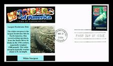 DR JIM STAMPS US WHITE STURGEON LARGEST FISH AMERICA WONDERS UNSEALED FDC COVER