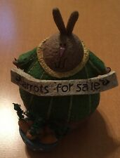 "Debbie Grogan Bunny ""Carrots For Sale"" Figurine from 2006"