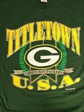 Green Bay Packers Vintage 1994 LOGO 7 TShirt Titletown USA Sz Large