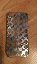 Coach New York Silver Logo iPhone 5/6/7 Clear Phone Case - Designer