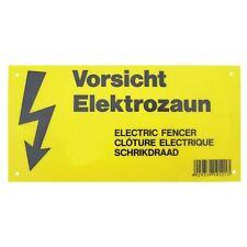 Warnschild für Weidezäune Elektrozäune gelb