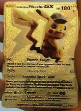 Pokemon Detective Pikachu GX Gold Metal Custom Card
