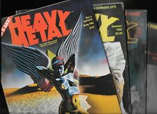 Heavy Metal Magazine Full 1986 Lot Spring Summer Fall Winter FN/VF 1977 Series