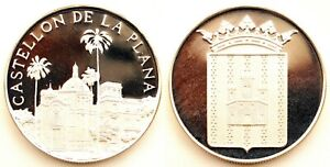 Spain-Castellon de la Plana. Medalla acuñacion Proof. Plata. 30 g.