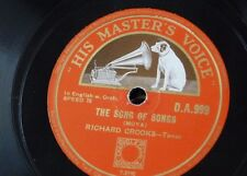 78rpm RICHARD CROOKS song of songs / ah sweet mystery of life DA999