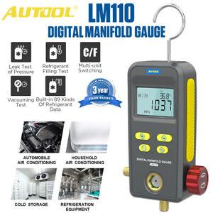 Refrigeration Manifold HVAC Digital Gauge Vacuum Pressure Temp Leak Fill Tester