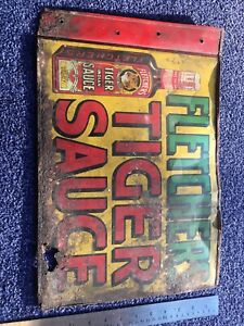 Original Vintage Metal Sign. Double Sided. Not Repro. Good Colours. Advertising