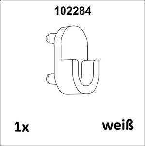 1x IKEA Ersatzteil wie 102284 Halter Kleiderstange - Weiß - ANEBODA - neu