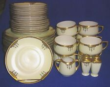Gold and White Hand-Painted Set of Dishes - SHIPPING INCLUDED