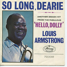 LOUIS ARMSTRONG 'So Long Dearie '  45 RPM PICTURE SLEEVE (POP)