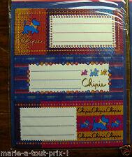 Lot De 9 Etiquettes Scolaires Stickers Chipie Pour Cahiers Livres (lot 1)