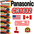 5 pcs Panasonic CR1632 Lithium Cell Battery 3V, BR1632 ECR1632, Exp. 2030