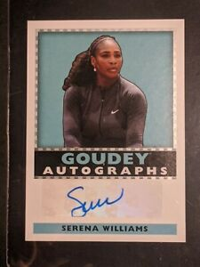 2018 Upper Deck Diamond Preview Goudey Champions Serena Williams (CDD-SW) Auto
