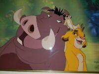 "Disney TheLion King Cel ""Hakuna Matata"" Limited Edition Animation Art Cell 6/50"