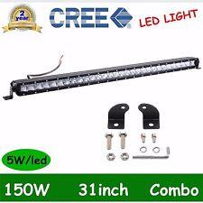 31INCH 150W LED LIGHT BAR SINGLE ROW COMBO TRUCK LAMP JEEP BOAT 12V24V CREE DEAL