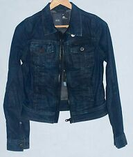 G-STAR RAW LEDGE ZIP WOMEN'S DENIM JACKET IN PARK WASH