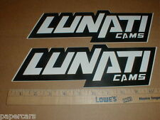 Lunati Cams camshafts contingency Nascar drag racing decal sticker lot New pair