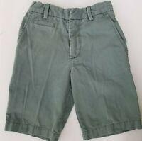 GAP Kids Boys Green Khaki Shorts Size 8 Slim Youth