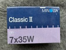 New listing Minolta Binoculars Classic Ii with case and strap 7x35W black new in box