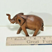 "Small 4"" Elephant, Hard Wood Art Sculpture, Hand Crafted Made in Bali, Indonesia"