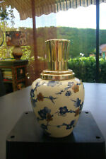 "LAMPE BERGER  PARIS MADE IN FRANCE REVOL PORCELAINE JAPAN  STYLE  ""PRINTEMPS """