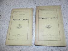 1892.Métrique + prosodie latine.Bainvel