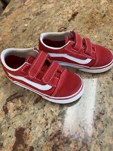 VANS Red Sneakers Boy Toddler (size 8)
