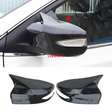 2016-19 For Nissan Maxima Carbon Fiber look ox horn Rear view mirror cover trim