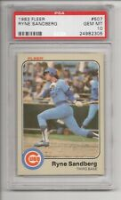 RYNE SANDBERG RC 1983 FLEER #507 ROOKIE CHICAGO CUBS HOF PSA 10 GEM MINT