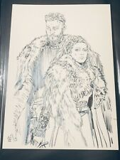 More details for tula lotay tv vikings issue 1 cover original comic art pencil and ink