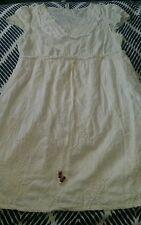 JEANSWEST Cream Embrioded Summer Beach Surfie Over Bikini Dress Size 8