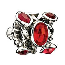Bead Charm JC-2F Marquis w/Red Stones, Auth. Chamilia Sterling .925 Silver