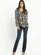 South Womens Floral Lightweight Smock Blouse Top Size 12 Uk BNWT RRP £37 Multi