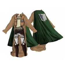 ATTACK ON TITAN Licensed Survey Corps UNIFORM Fleece BLANKET w/ Sleeves SNUGGIE