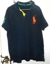 Ralph Lauren Custom Fit Camisa Polo Xl Black Big Pony Vintage