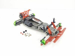 Traxxas Rustler UPGRADED 1/10 2wd Stadium Truck Roller Slider Chassis No Shocks/