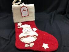 Pottery Barn Kids Red/White Felted Wool Santa Stocking NWT! NO Monogram