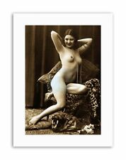 Victorian provocatorio Nudo Erotico SEPPIA POSTER VINTAGE EROTICA STAMPE SU TELA ART