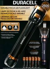 Duracell LED Flashlight Variable Focus 2500 Lumens 3 Modes Batteries Included