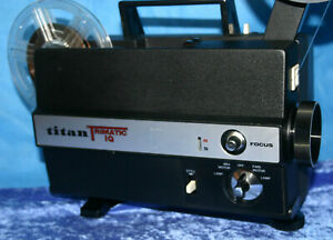 TITAN TRIMATIC IQ  DUAL 8mm SILENT MOVIE PROJECTOR. NEW 100w LAMP   SERVICED A1