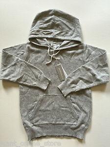 BNWT Purebaby Organic Cotton Wool Pure Baby Hoody Jumper Sweater Grey Size 6