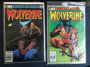 Wolverine Mini Series issues 3 and 4 Ungraded Condition At Least 7.0 No Reserve