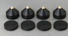 4x Indonesia Ebony Wooden Tip Spike Cone 4x Pad Shoe Isolation Kit Audio Speaker