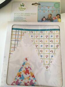3 x Mickey Minnie Mouse Baby Bunting Wall Stickers Disney Nursery Decor New Kids
