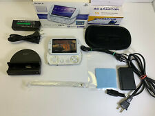 Sony PSP GO Pearl White with BOX + Charging Dock Cradle MINT Screen + New Accs.